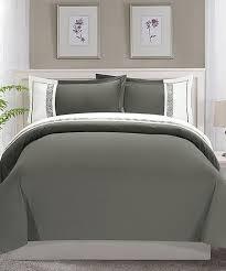 elegance linen gray greek key duvet