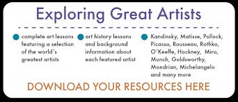 Elementary Art Lesson Plans Exploring Great Artists Complete Art Lesson Plans