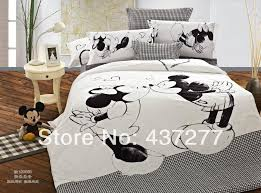 mickey and minnie bedding sets brand new mouse black white for kids