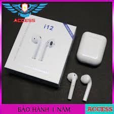 SIÊU PHẨM ] Tai Nghe Bluetooth i12 TWS 5.0 Tai Nghe i12 Không Dây Âm Thanh  Chuẩn HIFI Dùng Cho IOS Và Android Access - Tai nghe Bluetooth nhét Tai