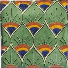 ceramic tile art patterns. Brilliant Ceramic Green Peacock Feathers Talavera Mexican Tile By Tierra Y Fuego Ceramic  ArtMosaic  Throughout Art Patterns D