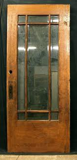x interior door antique exterior entry white oak wood 9 beveled glass windows 36 84 storm