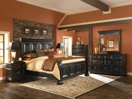 brick bedroom furniture. King Bed Furniture Luxury Bedroom Property Sets Adorable Orange Wall Color With Brick For Accent Exquisite