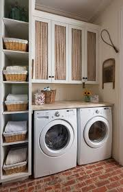 laundry furniture. Baskets Around The Washing Machines Laundry Furniture O
