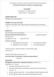 Best Resume Templates Spectacular Bachelor Degree Resume Sample