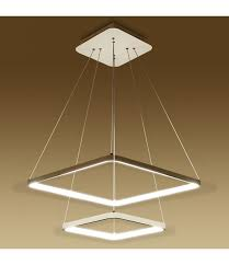 square pendant lighting. lucretia lighting 8153 double square led architectural inward illumination pendant light 50cm30cm a