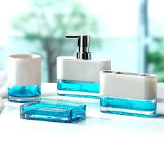 mercury glass bathroom accessories wondrous blue glass bathroom accessories float 4 piece bathroom accessory set blue mercury glass bathroom accessories
