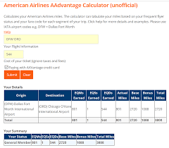 American Airlines Fare Chart Aa Calculator Tool Updated 9 18 Flyertalk Forums