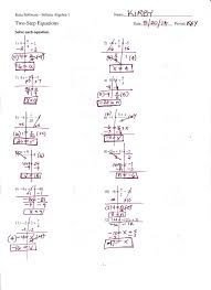 kuta infinite algebra 1 writing linear equations answer