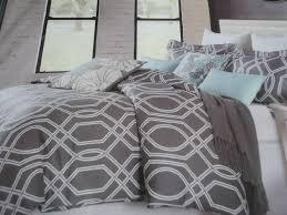 max studio gray white modern 3 pc full queen duvet cover set