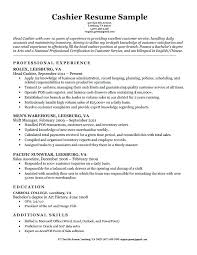 Cashier Resume Description Simple Sample Resume For Cashier Job Description Retail In Example