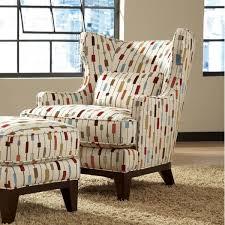 simon li richard wingback chair and ottoman