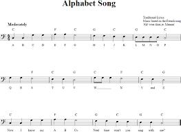 Alphabet Song Chords Lyrics And Bass Clef Sheet Music
