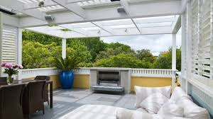 featured on the outdoor terrace is a gas fire a louvretec loggia panel heating