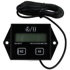 digital tachometer black digital tach hour meter tachometer gauge for dirt bike atv utv gas engines