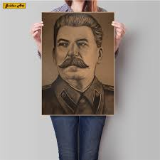 Vintage Wall Chart Us 0 39 World War Ii Soviet Stalin History Retro Kraft Paper Poster Wall Chart Pub Cafe Bar Vintage Wall Painting Sticker 45 5x31 5cm In Wall