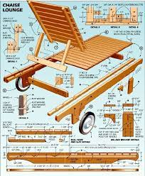 chaise lounge diagram woodworking