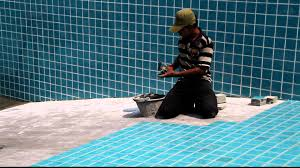 How to lay swimming pool tiles | Thethreetouch Asia Pacific Co.,Ltd. -  YouTube