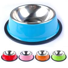 Decorative Dog Bowls Pet Products Colorful Stainless Steel Dog Feeding Bowl Cat Puppy