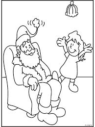 Kleurplaat Kerstman Zit In Een Stoel Kleurplatennl