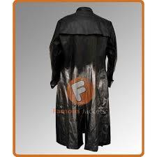 keanu reeves neo matrix reloaded costume long leather coats