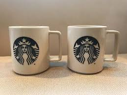 And 15 oz.) and are dishwasher and microwave safe! Starbucks Two Stacking Big Mermaid Black Logo Large Coffee Mugs Cups Usa 14oz 13 88 Picclick Uk