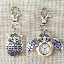 personalized custom name engraved creative gifts battery included clip on owl double open wings cute key lobster clasp fob watch unique pocket watches