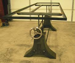 adjustable dining table base. acutech works industrial-style table base \u203a adjustable dining