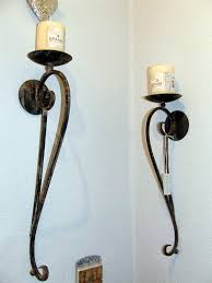 brown twisted pillar sconce set of  candle wall candle sconces