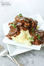 crock pot steak and gravy only 3