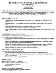 Resume For Servers Information Technology It Resume Sample Resume Companion