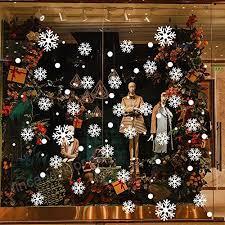 Mmlsure Fensteraufkleber Weihnachten Weißschneeflocke
