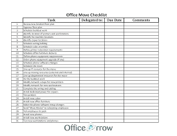 Office Schedule Template Checklists Business Relocation Checklist