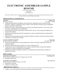 ... 20+ Production Line Worker Resume Samples - Electronic Assembler  Production Line Worker Resume Sample ...