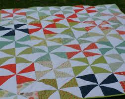 Pinwheel quilt   Etsy & Pinwheel Quilt. Modern quilt. Modern pinwheel quilt. Large pinwheel. Gender  neutral quilt Adamdwight.com