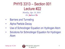 phys 3313 section 001 lecture 22 n