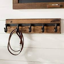 Wood Wall Mounted Coat Rack Enchanting Amazon Wood And Iron Wall Mounted Coat Rack Office Products
