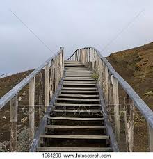 stock photo wooden steps going up gagos equador fotosearch