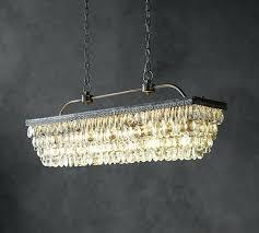 pottery barn clarissa chandelier crystal drop round knock off