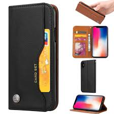 iphone x case 2017 iphone xs case 2018 allytech vintage leather folio style full protective magnetic drop proof cards slots money pouch wallet