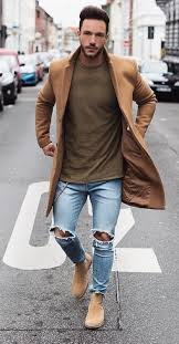 How to style men's chelsea boots. How To Wear Chelsea Boots And Jeans Mens Fashion Edgy White Jeans Men Mens Winter Fashion