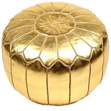 Gold Metallic Pouf