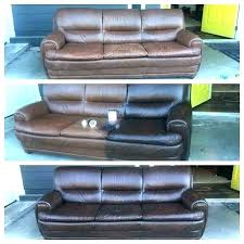refurbished leather sofa furniture paint how to repair worn couch restoring green chair and completely red