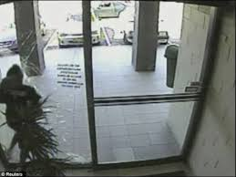 people walking into glass windows and doors