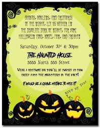 Blank Halloween Invitation Templates Simple Halloween Party Invitation Template Festival