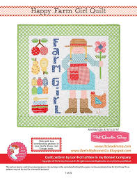 Happy Farm Girl Downloadable PDF Quilt Pattern Bee in my Bonnet ... & Hover to zoom Adamdwight.com