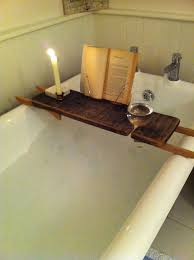 98 best bath room ideas images on tray for reading inside within wood caddy remodel