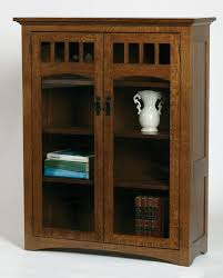 mission bookcase full length glass doors buckeye amish furniture in design 0