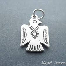 925 sterling silver thunderbird 2 sided charm native american jewelry making supply pendant charms bracelet diy crafting by whole charms