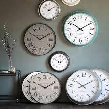 bora metal round wall clock 60cm stone